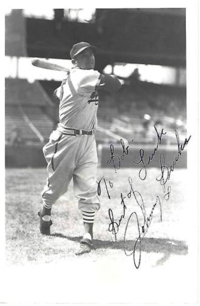 JOHNNY BUCHA ST. LOUIS CARDINALS SIGNED PERSONALIZED 3X5 POST CARD W/COA