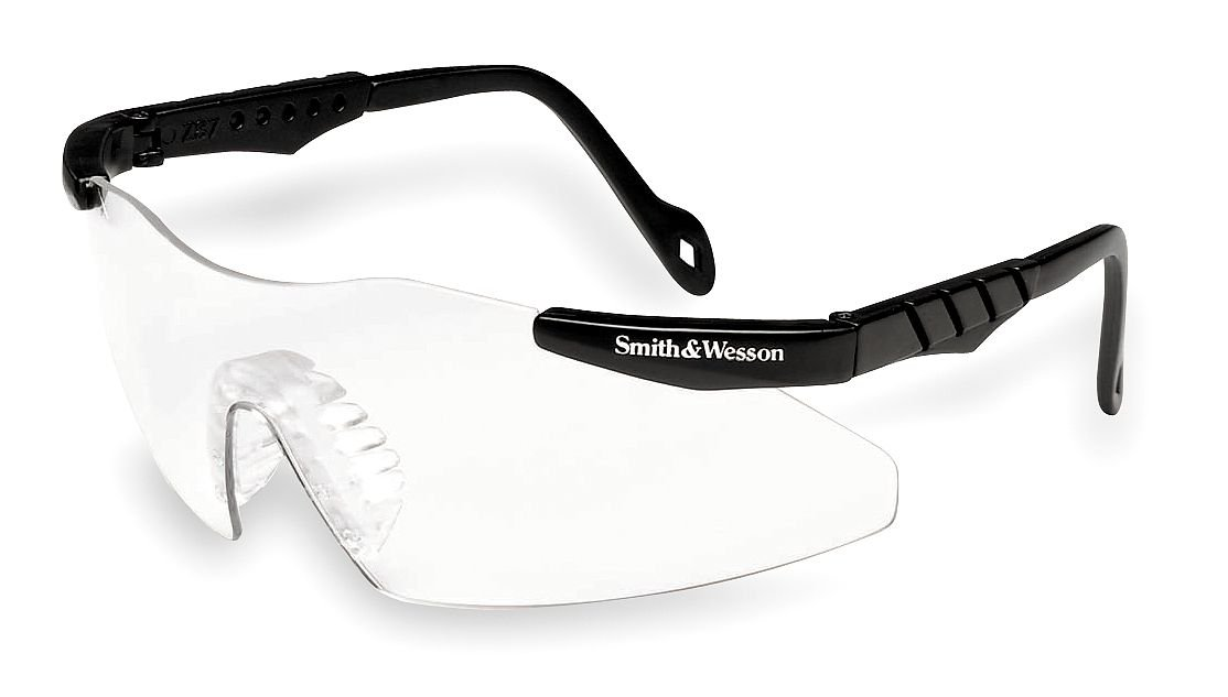 Smith amp; Wesson Clear Safety Glasses, Scratch-Resistant, Frameless