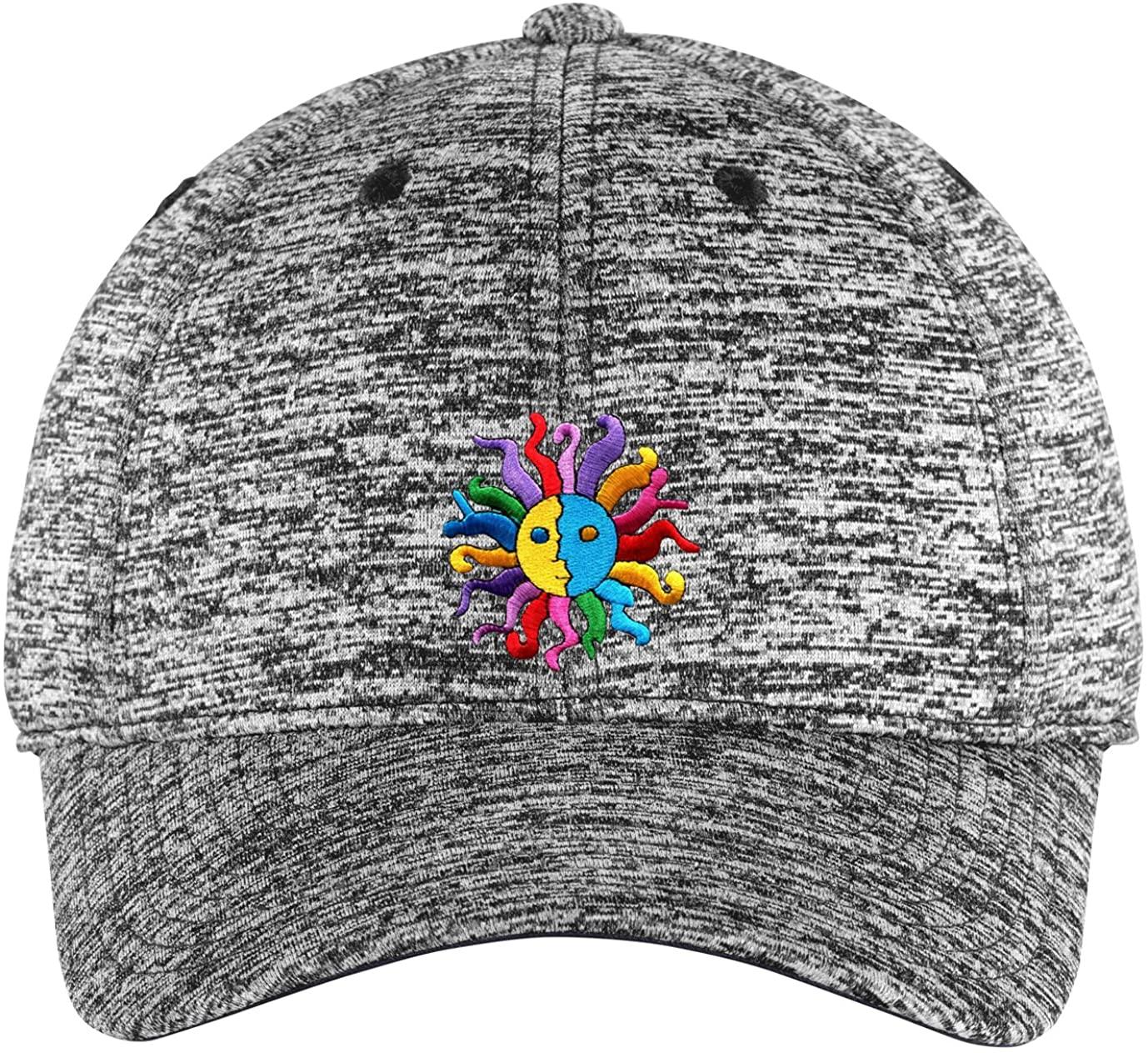 Unisex Hippie Sun and Moon Patch Hat Cap