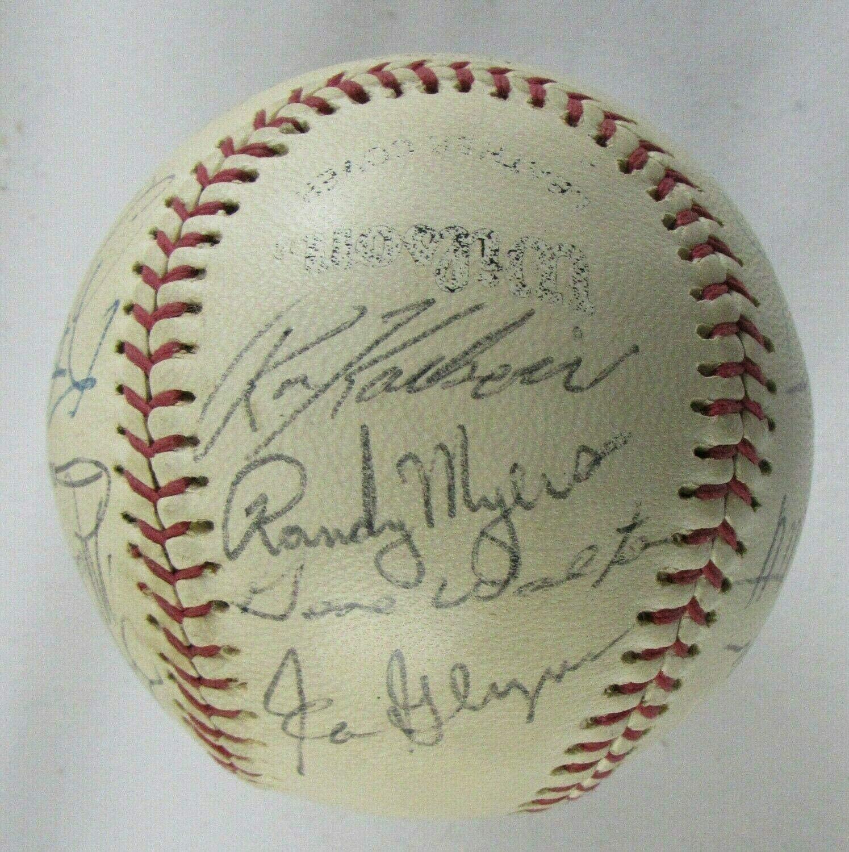 MLB Stars Signed Wilson Baseball Randy Myers Gary Gaetti Kent Hrbek +12 - Autographed Baseballs