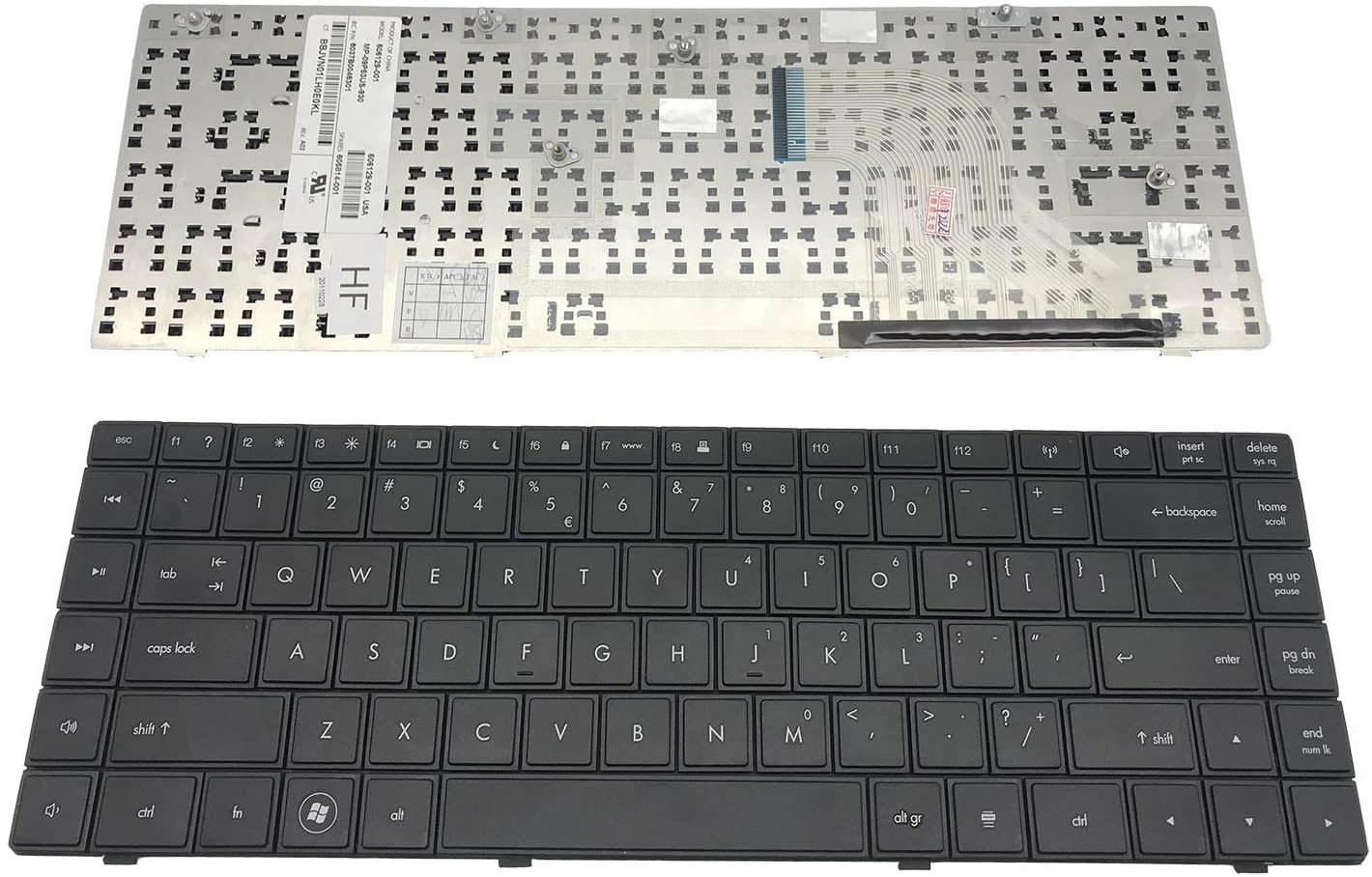 Keyboard go go go US Layout Notebook Keyboard for HP Compaq 620 621 625 CQ620 CQ621 CQ625 Series Black, AEAX6U00110 599602-001 606129-001 V115326AS1 605814-001 (Notes: Not fit for CQ320 Laptop!!) CQ6