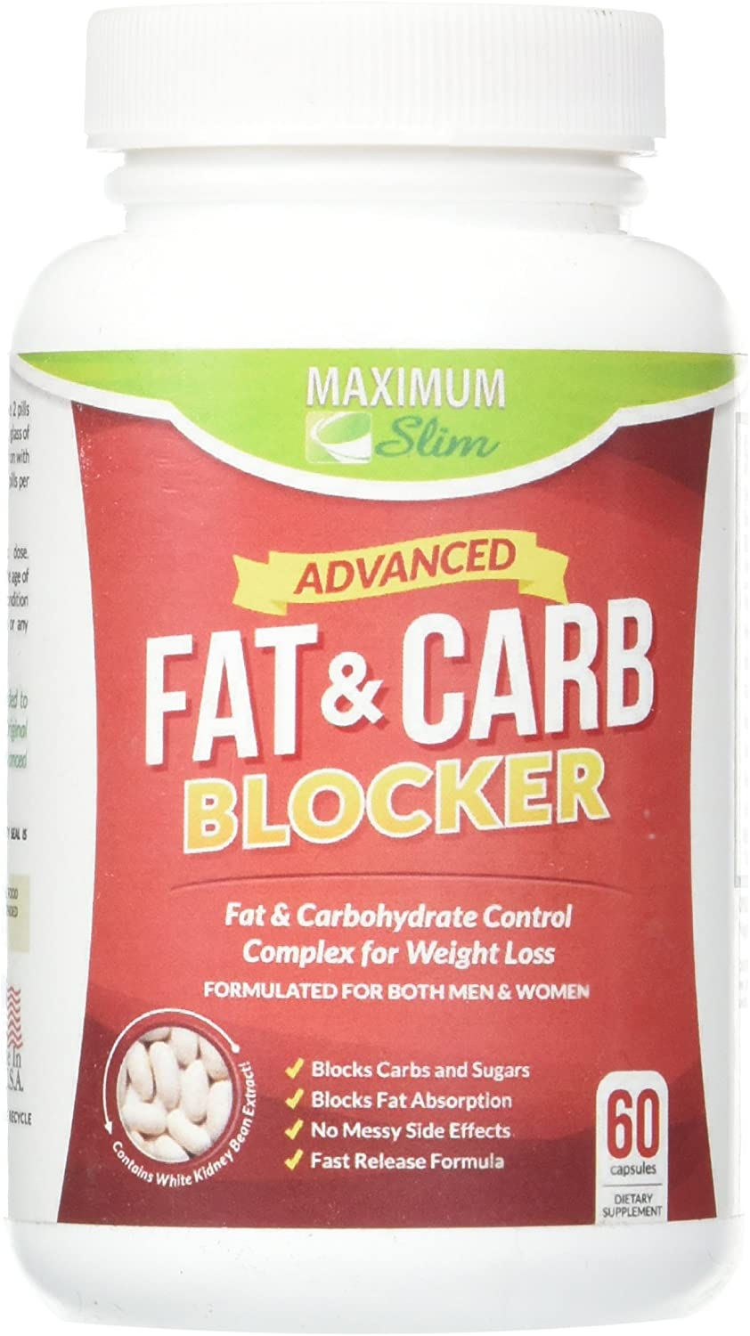 MAXIMUM SLIM Fat and Carb Blocker 60 Capsules, 0.02 Pound