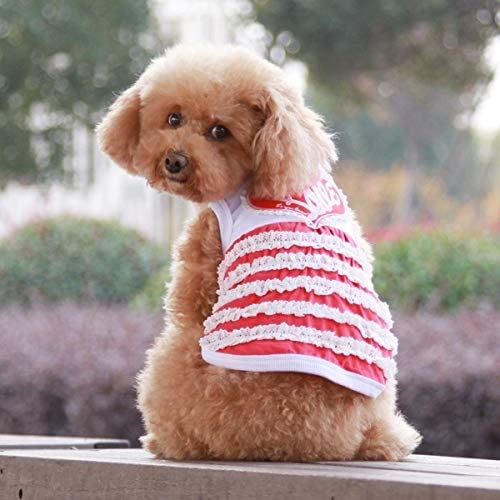 Pet Supplies Cute Heart Pattern Pet Dress Pet Products, Size: L, Back Length: 32cm, Chest: 48cm, Random Color Delivery