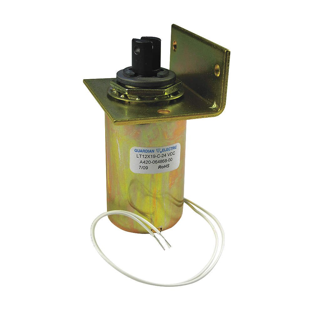 GUARDIAN ELECTRIC LT8X16-C-24D SOLENOID, CYLINDRICAL, PULL, CONTINUOUS