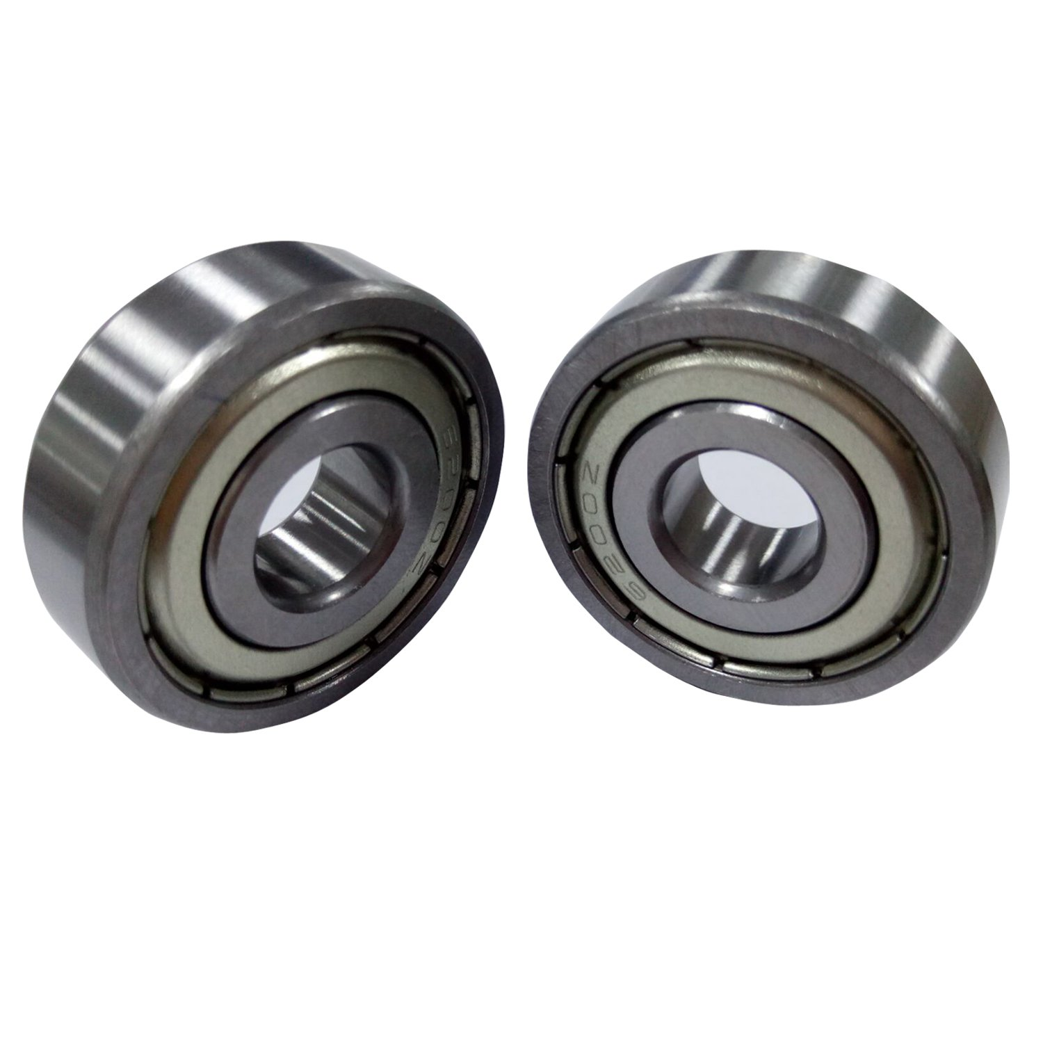 Antrader Set of 10 Metal Shielded 6200Z 10 x 30 x 9mm Deep Groove Ball Bearings Silver Tone