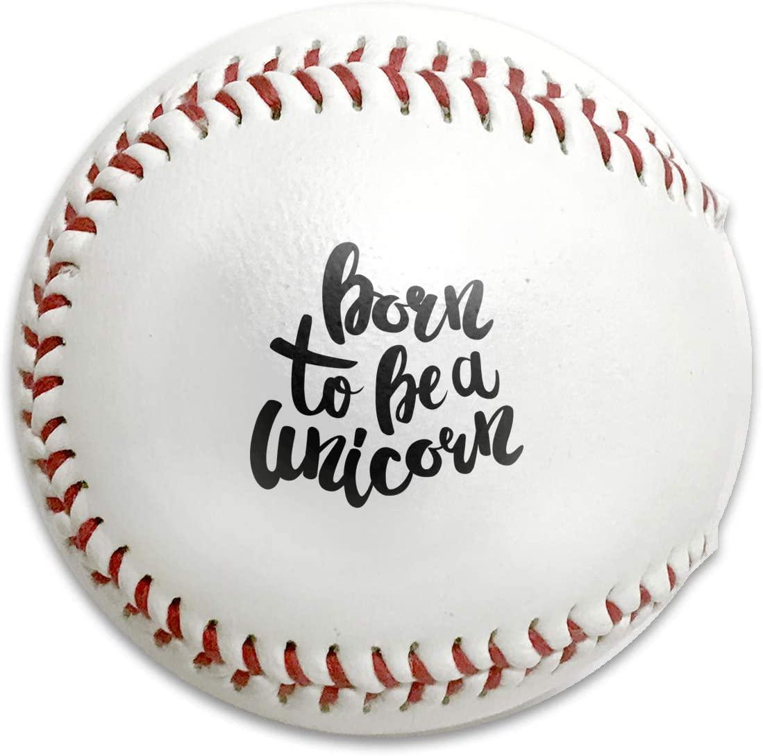 NOT Born to Be Unicorn Lettering Standard Fashion Baseball Leather Covered Training Ball Commemorative Gift Baseball