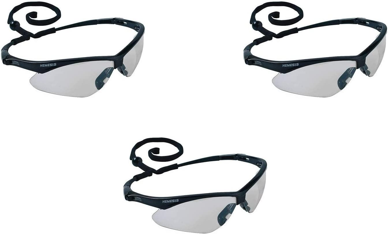 Jackson Safety V30 Nemesis Indoor/Outdoor Lens Safety Eyewear, Set of 3