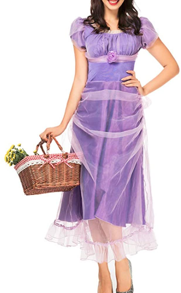 Mitef Fairy Tale Movie COS Clothing Purple Princess Dresses for Perfomance