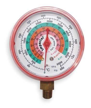 Replacement Gauge, High Side, Color Red