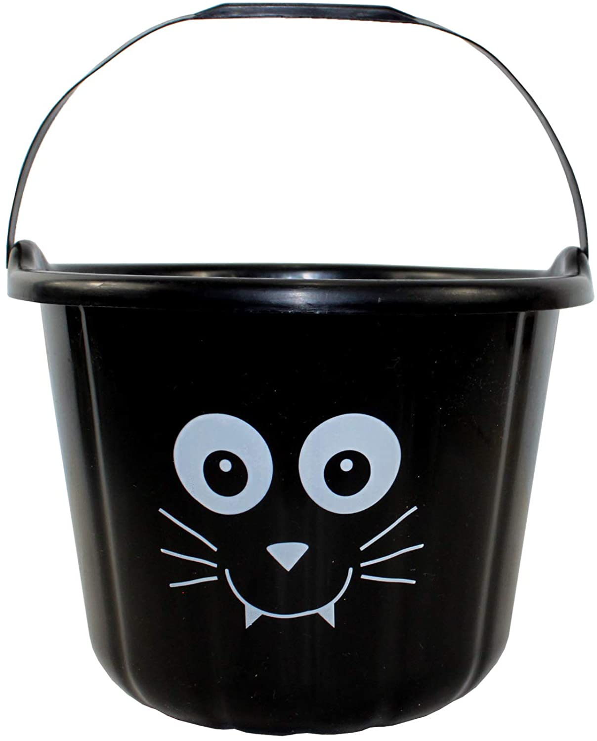 Black Trick OR Treat Bucket with CAT FACE