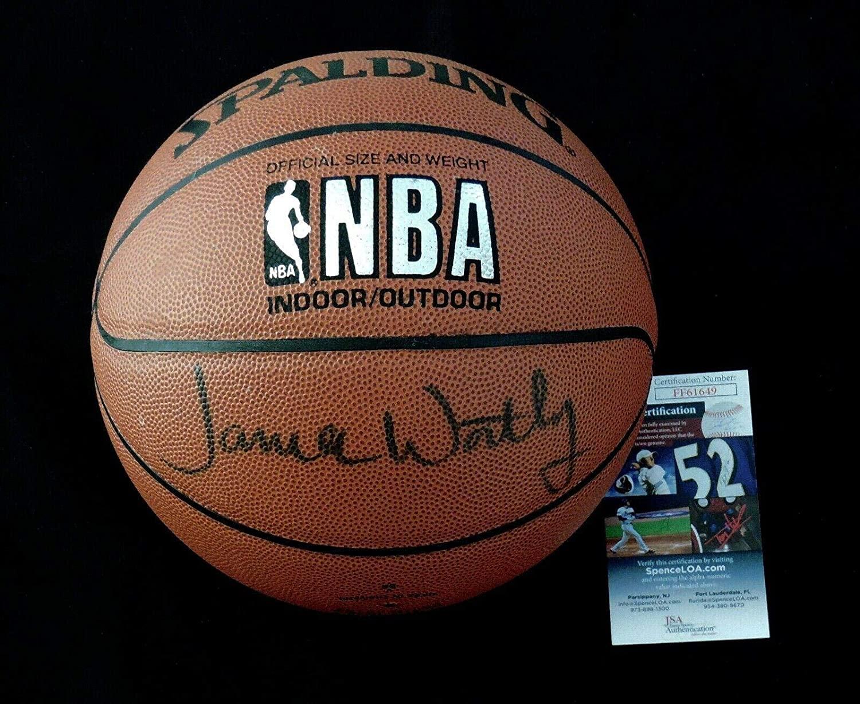 James Worthy Autographed Basketball (los Angeles Lakers) - Coa! - JSA Certified - Autographed Basketballs