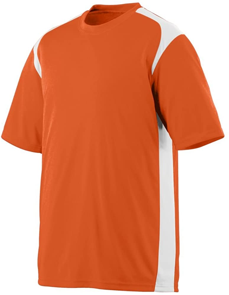 Youth Wicking/Antimicrobial Gameday Crew - Orange and White - Medium