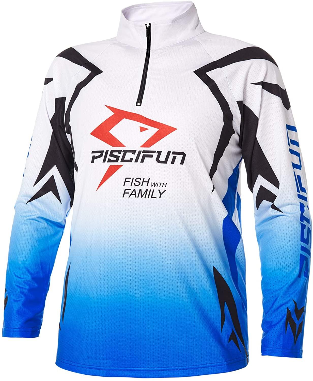 Piscifun Performance UPF Long Sleeve Fishing T-Shirt-Sun Protection Clothing Fishing Jersey M L XL 2XL 3XL