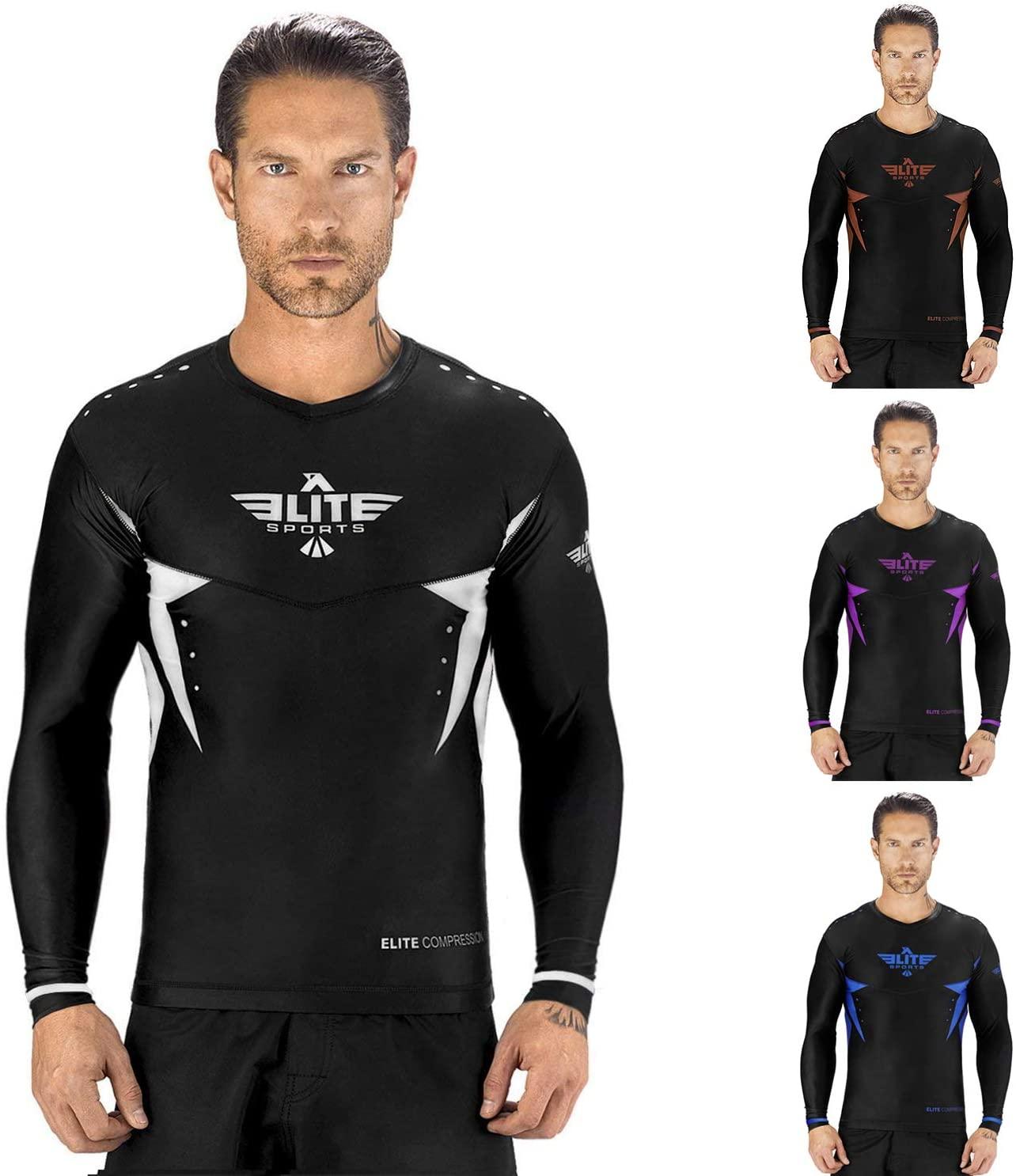 Elite Sports Star Full Sleeve Compression, MMA, BJJ, No-Gi, Cross Training Rash Guard