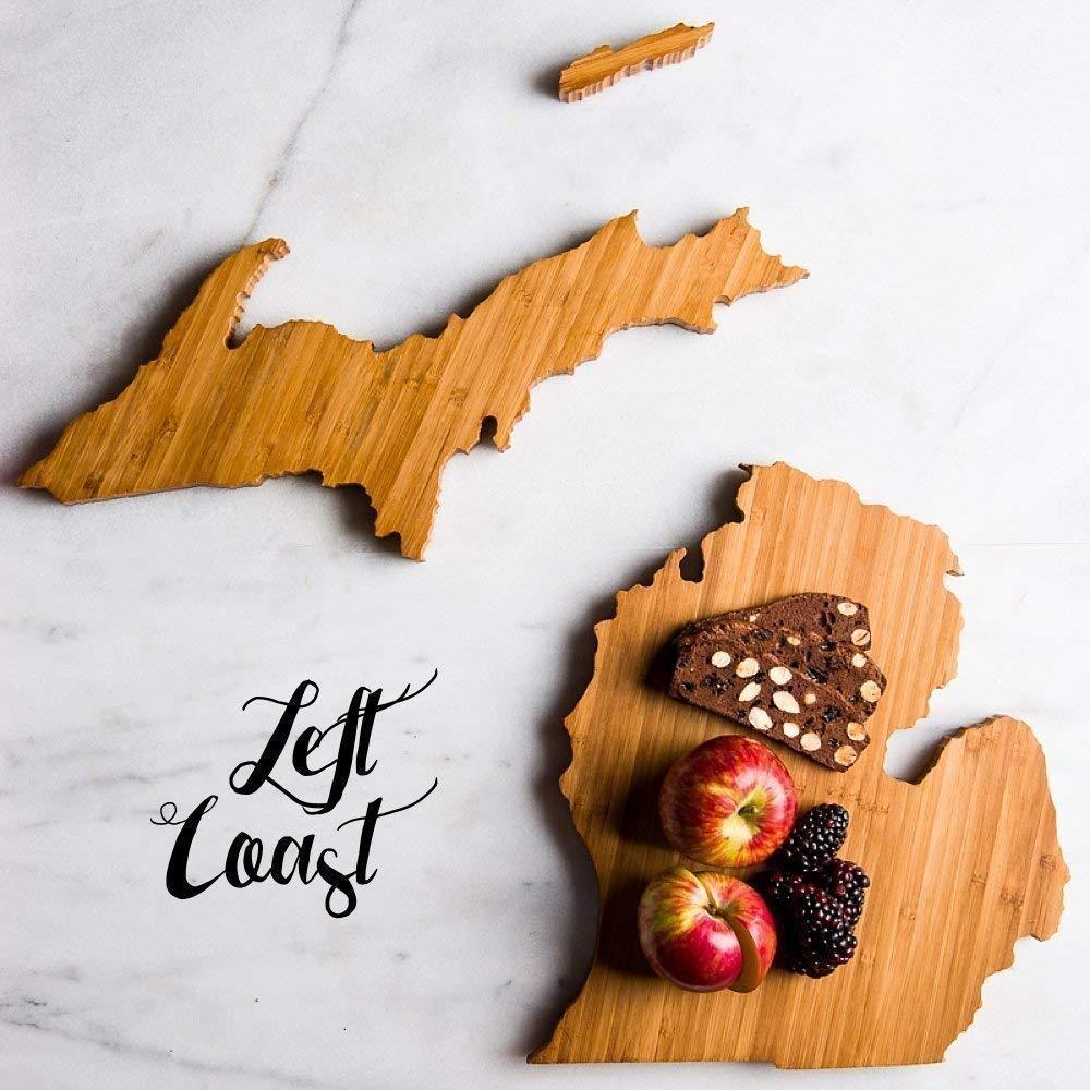 Personalized Michigan State Shaped Cutting Board by Left Coast Original