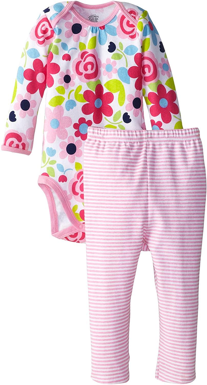 Jockey Baby Girls' Girl 2 Piece Floral Bodysuit and Legging Set