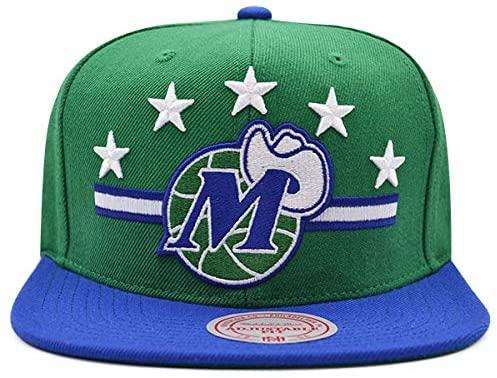 Mitchell & Ness Dallas Mavericks HWC Heritage Snapback NBA Adjustable Hat Green/Royal