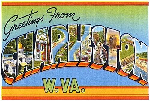 Greetings from Charleston, West Virginia - 1930's - Vintage Postcard Poster
