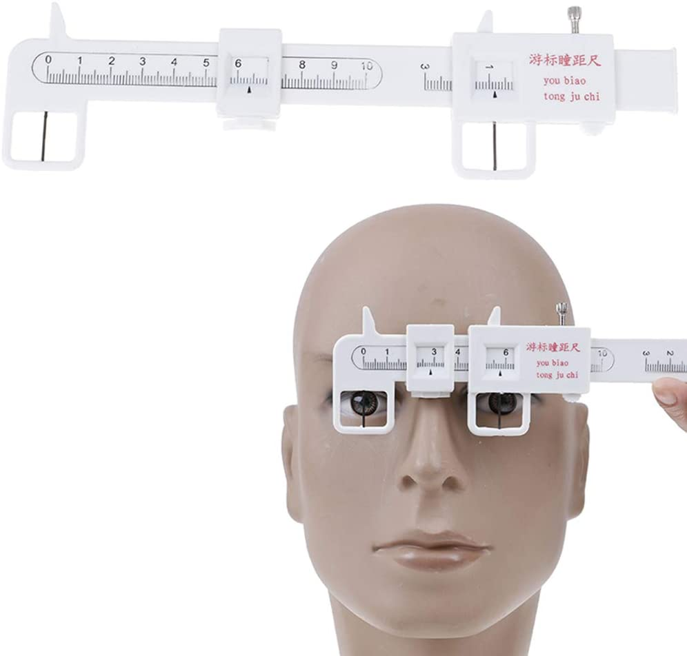 TableRe 1X Measure Optical Vernier PD Ruler Pupil Distance Meter Eye Ophthalmic Tool (1 Pack)