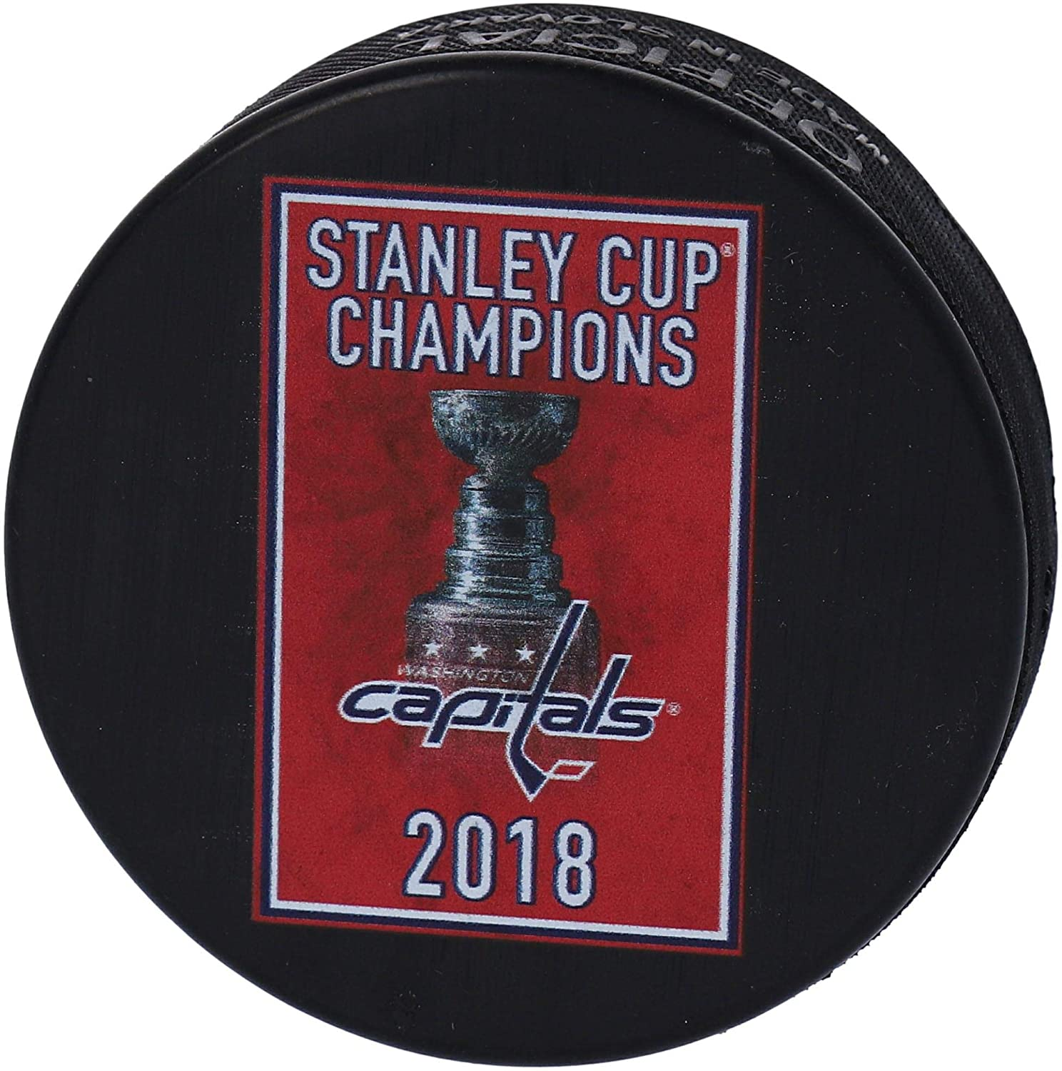 Washington Capitals Unsigned October 3, 2018 Stanley Cup Championship Banner Raising Official Game Puck - Fanatics Authentic Certified