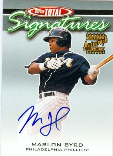 Marlon Byrd autographed Baseball Card (Philadelphia Phillies) 2003 Topps Total #TS-MB