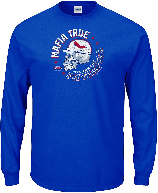 Smack Apparel Buffalo Football Fans. Mafia True 'Til The Day I'm Through. Royal T-Shirt (Sm-5X)