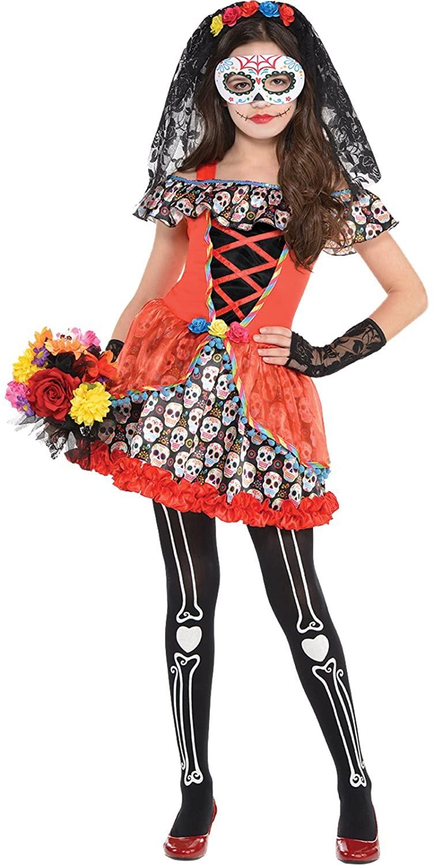 Sugar Skull Senorita Child Costume - Medium
