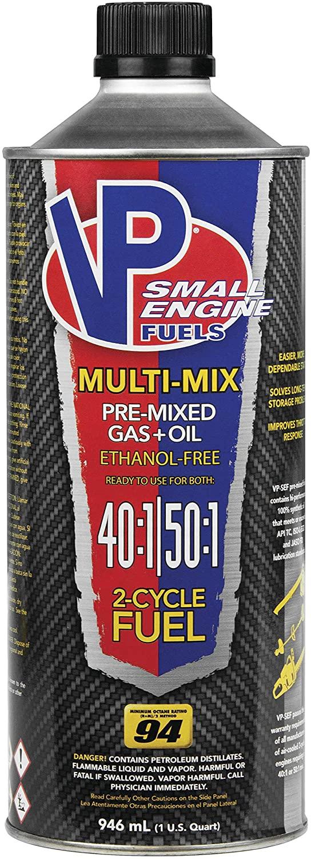 VP Racing Fuels 6815 SEF Multi-Mix 40:1/50:1 Premixed Fuel - 1qt.