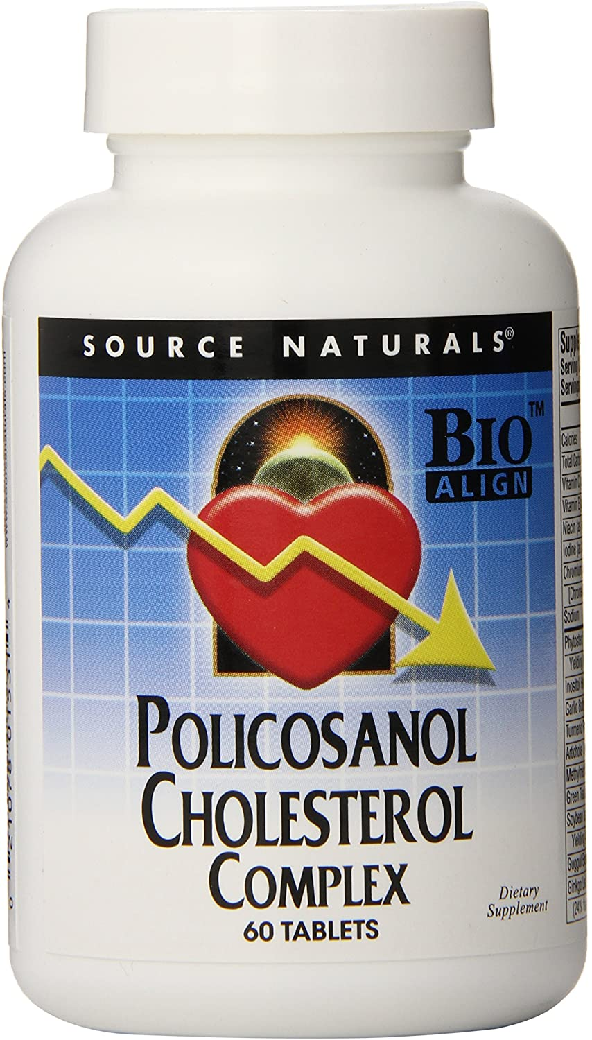Source Naturals Policosanol Cholesterol Complex, Multi-System Support for Healthy Lipid Levels, 60 Tablets