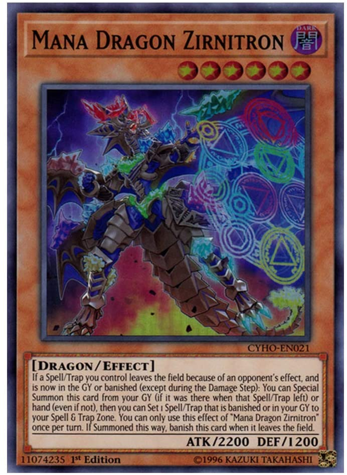 Mana Dragon Zirnitron MP19-EN090 Prismatic Secret Rare ul