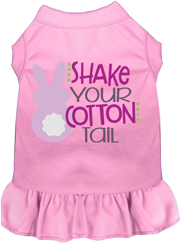 Mirage Pet Product Shake Your Cotton Tail Screen Print Dog Dress Light Pink Sm (10)