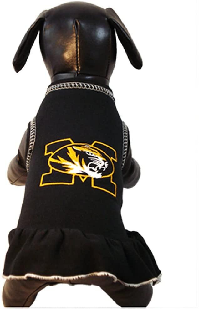 NCAA Missouri Tigers Cheerleader Dog Dress, Team Color, X-Small