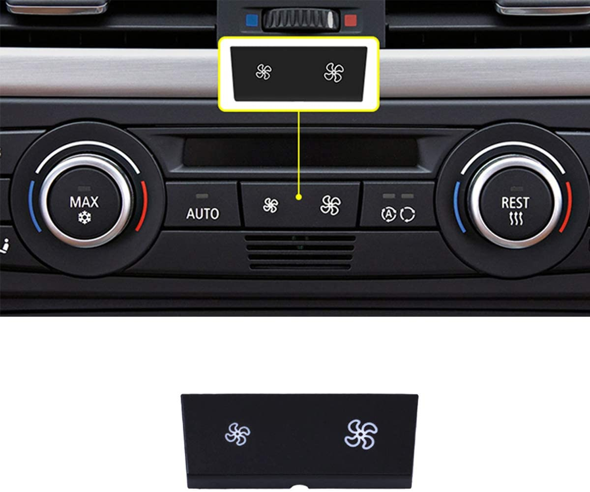 Jaronx for BMW A/C Climate Control Panel Fan Speed Button Replacement,fit for BMW 1 Series E81/E87/E88/E82,3 Series E90/E91/E92/E93,X1 E84 (1 PCS)