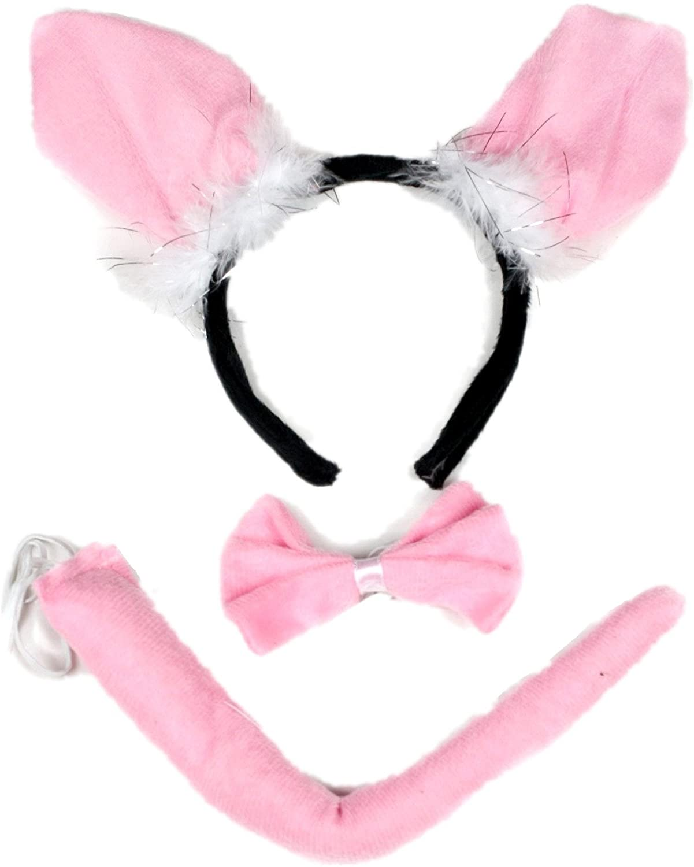 Petitebella Little Pig Headband Bowtie Tail 3pc Costume