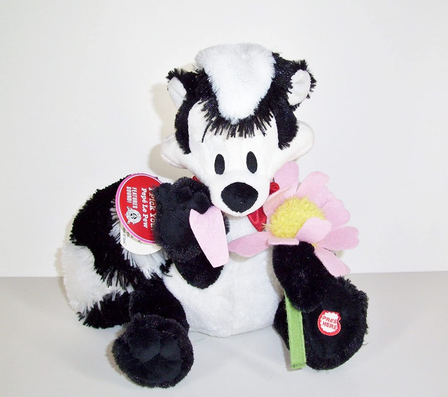 Pepe Le Pew I Pick You Talking Plush Valentine's Day Skunk French Hallmark