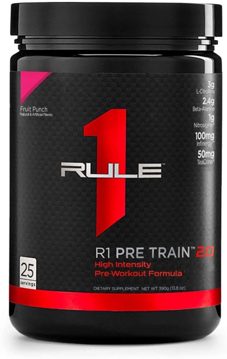 Rule 1 Proteins R1 Pre Train 2.0 25 Serv Fruit Punch, 390 Gram