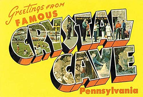Greetings From Crystal Cave, Pennsylvania - 1930's - Vintage Postcard Magnet