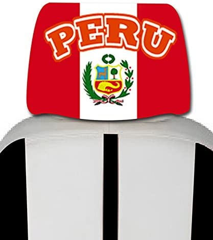 Peru Car Cover Seat Flag 1 pair driver side and passenger side in one bag -With plus free gift.
