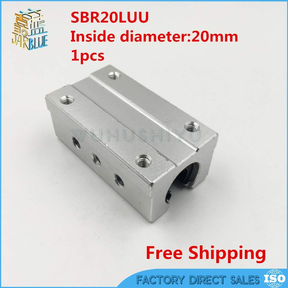 Ochoos SBR20LUU SBR20L 20mm Linear Ball Bearing Slide Unit 20mm Linear Bearing Block