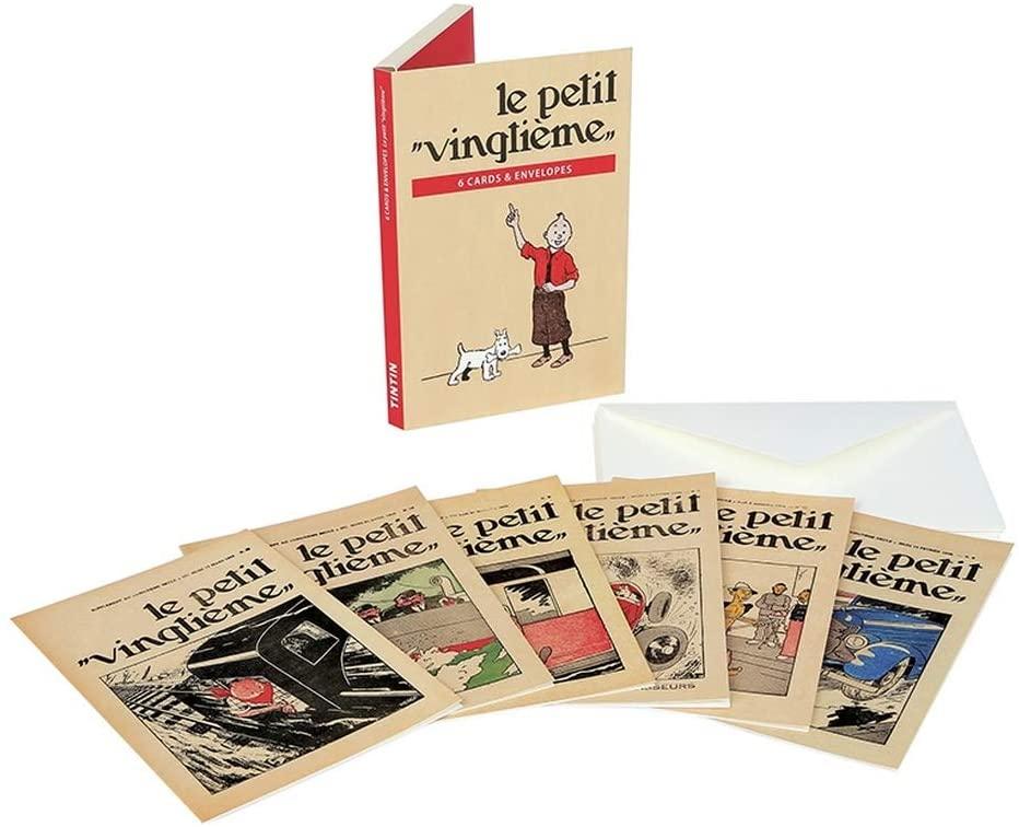 Set of 6 Double Postcards Tintin, Le Petit Vingtième 31313 (10x15cm)