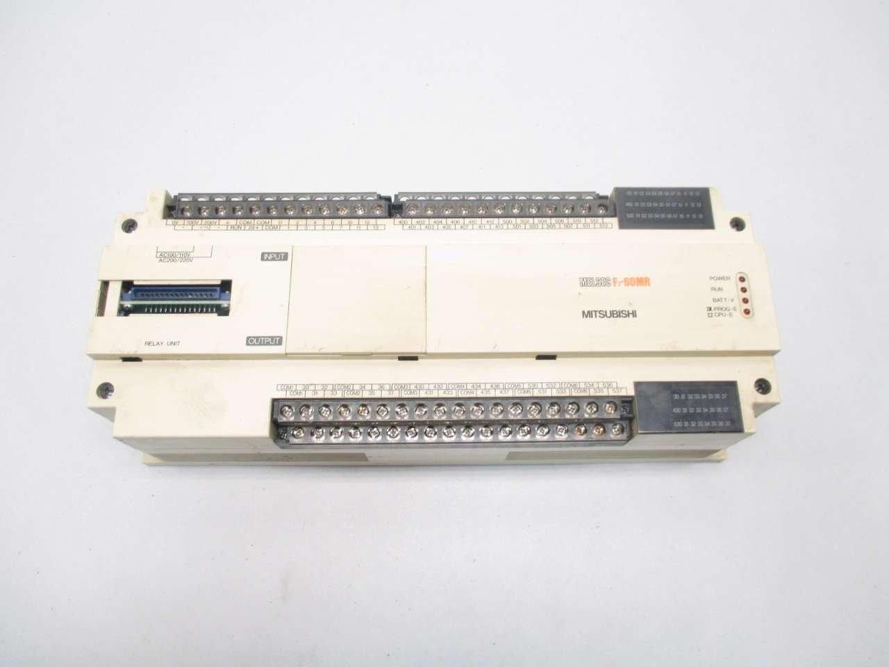 MITSUBISHI F1-60MR MELSEC PROGRAMMABLE 100/110/200/220V 40VA CONTROLLER D474066