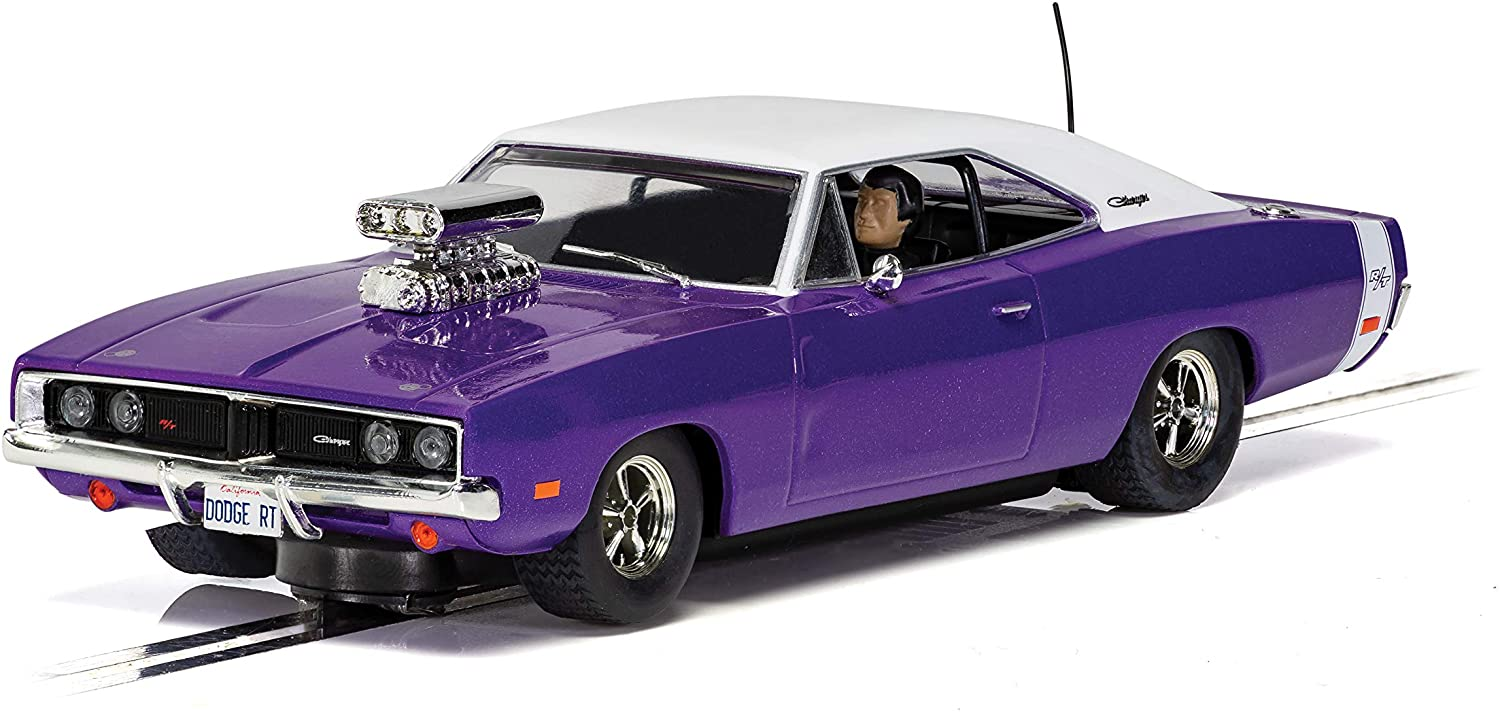 Scalextric Dodge Charger R/T Hot Rod Purple 1:32 Slot Race Car C4148