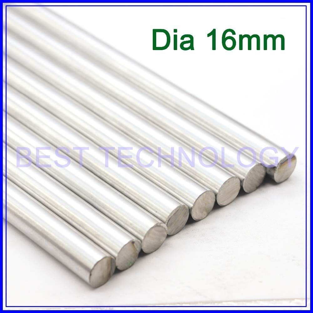 Ochoos WCS Dia 16mm-L400mm Chrome Plated Cylinder Linear Rail Round Rod Shaft Linear Motion Shaft,!!!