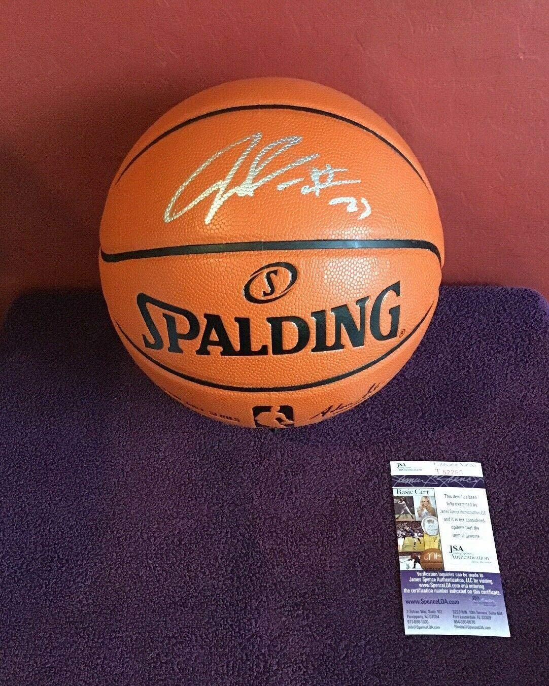 Julius Randle Autographed Ball - Spalding Certified - JSA Certified - Autographed Basketballs