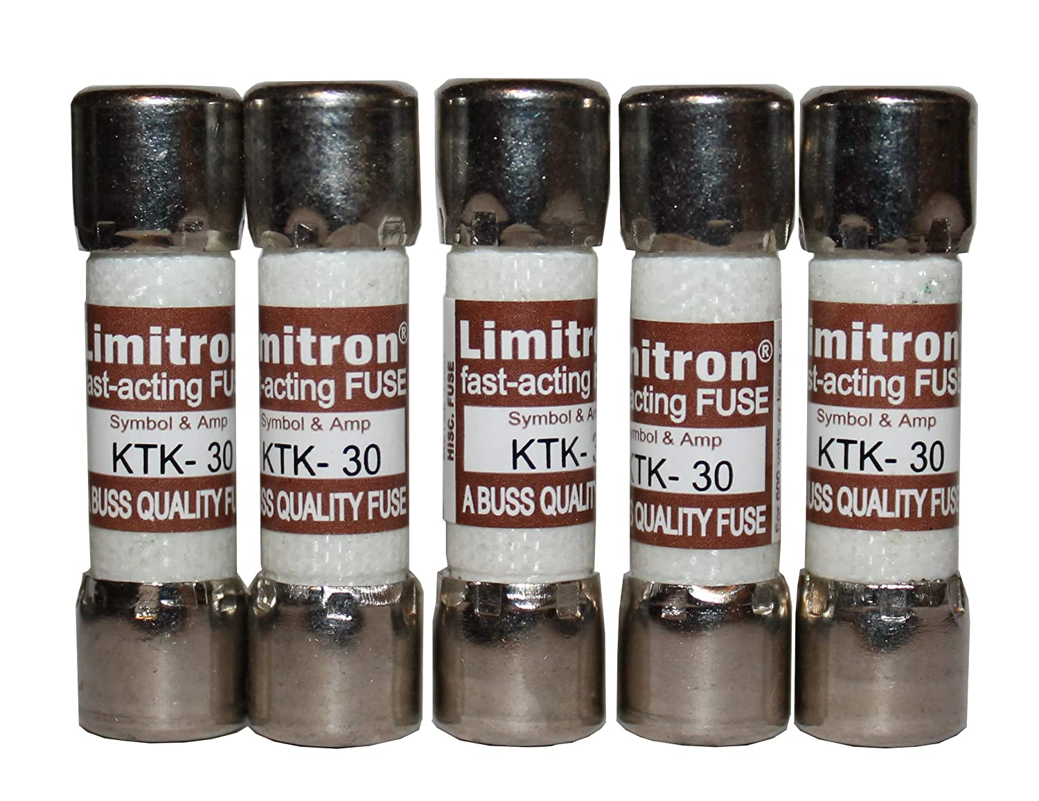 KTK-30 Fast Acting Limitron Fuse 600 VAC 30A (5 Pack)