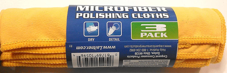 Laitner Microfiber Polishing Cloths -3 Pack