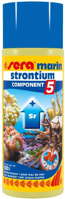Sera Marin Component 5 Strontium 500 Ml, 16.9 fl.oz Aquarium Treatments
