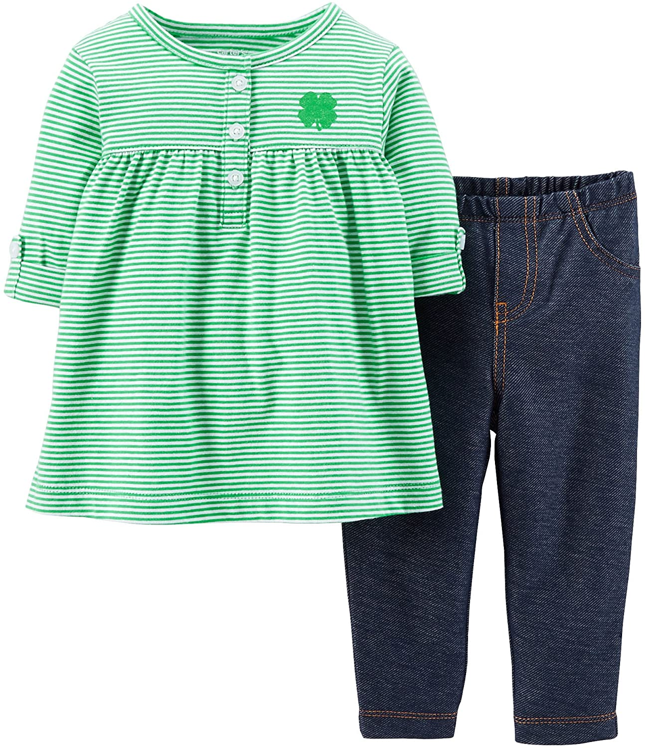 Carter's Carters Baby Girls' ST. Paddy's Day Tunic & Pant Set