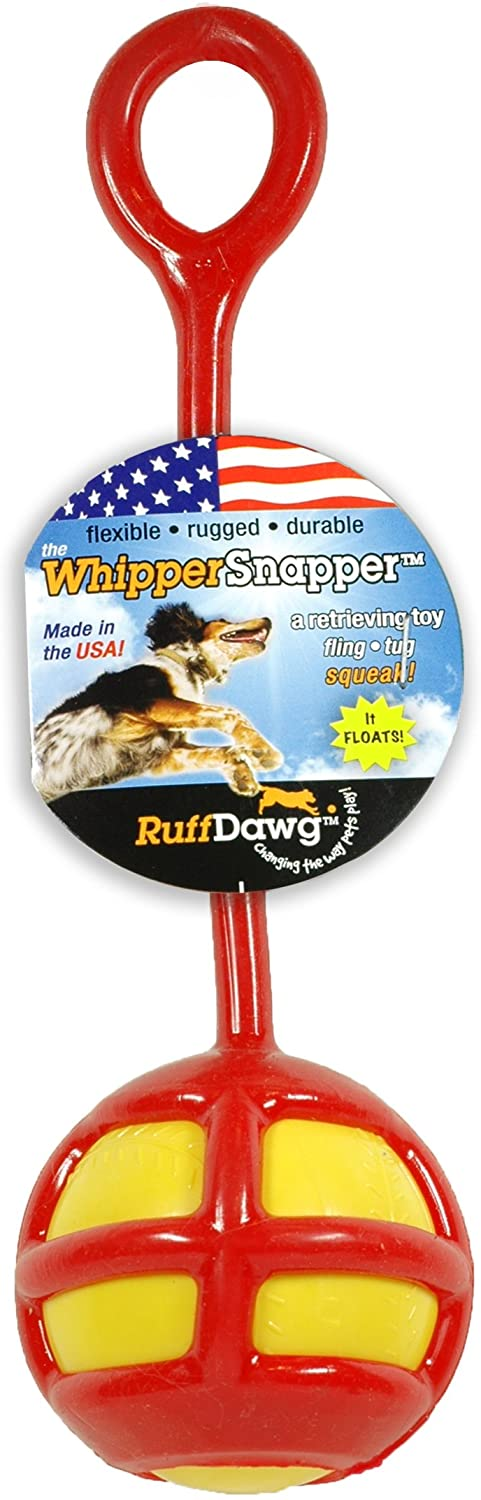 Ruff Dawg WhipperSnapper Squeaky Dog Toy Assorted Colors