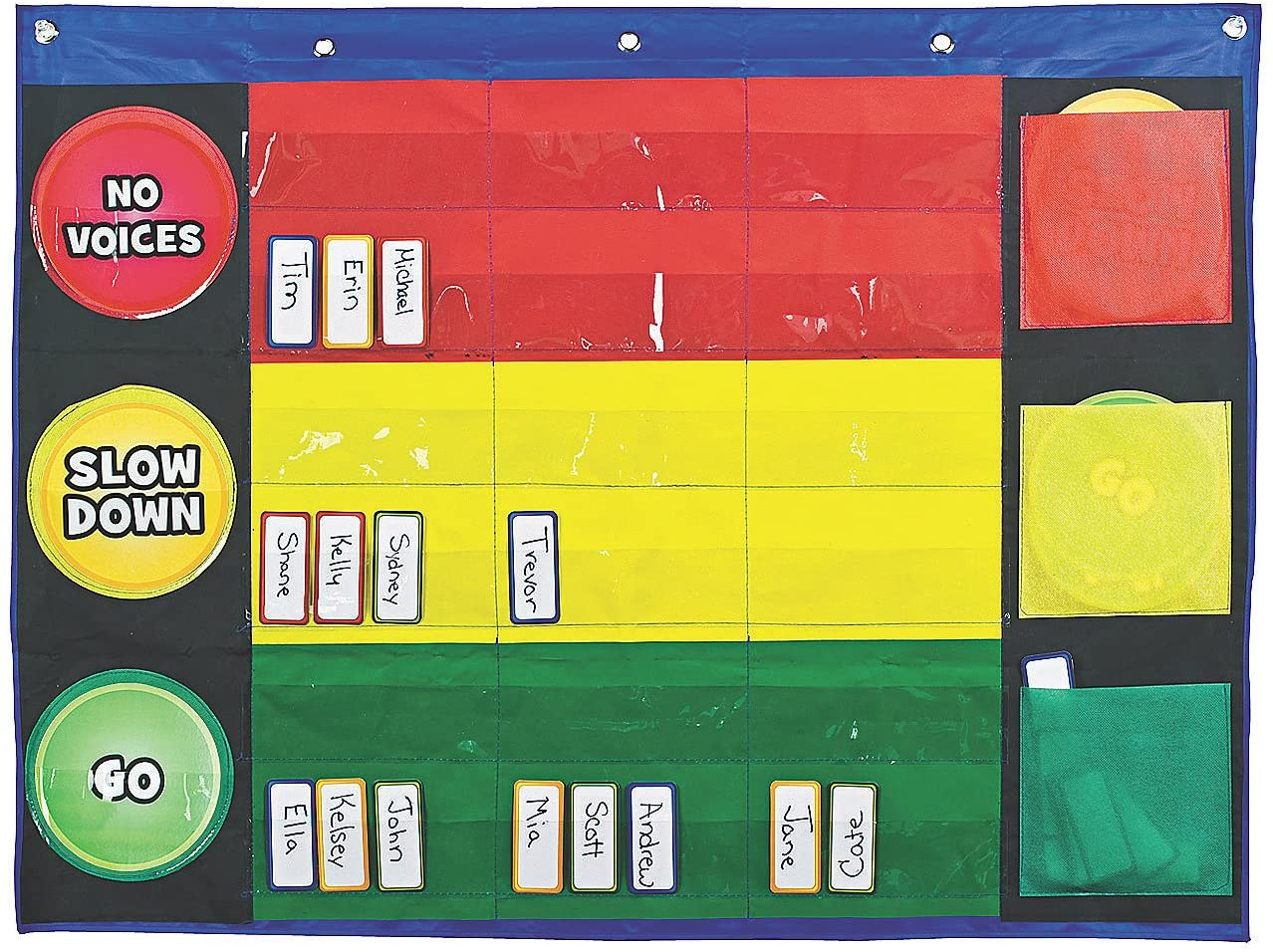 Fun Express Stop Light Pocket Chart - 51 Pieces - Educational and Learning Activities for Kids